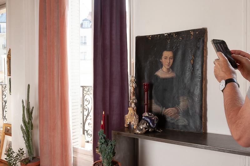 Séance photo rideaux à Paris pour la marque en fil, d'Indienne, sous la direction artistique de Nicolas Bertrand